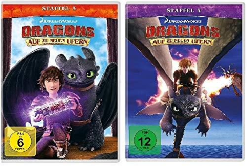 Dragons - Auf zu neuen Ufern - Staffel 3+4 im Set - Deutsche Originalware [8 DVDs]