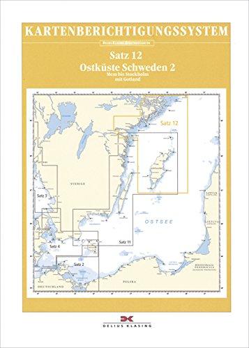 Berichtigung Sportbootkarten Satz 12: Ostküste Schweden 2 (Ausgabe 2021): Mem bis Stockholm mit Gotland und Södertäljekanal