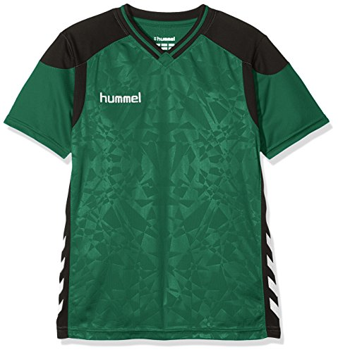 Hummel Kinder Sirius Short Sleeve Jersey Trikot, Evergreen, 116-128