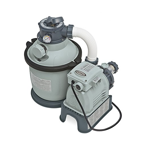 Intex Krystal Clear Sand Filter Pump for Above Ground Pools,...