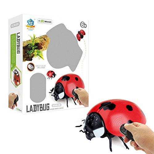 MeterMall Kreative Simulation RC Infrarot Induktion Insekt Spielzeug Scary Tricky Fly Bee Marienkäfer Spielzeug Ladybug