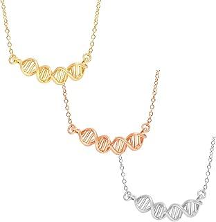 DNA Chemical Formulas Symbol Charm Pendant Necklace 18