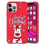 Pnakqil Navidad Funda para OnePlus 9 (5G) 6,55',Antichoque Rojo Suave Silicona Carcasa con Diseño de Patrones Navideños Protectora Case Compatible con OnePlus 9 5G, Ciervos 02