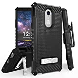 6goodeals for 6.2' LG Stylo 4 Case, LG Q Stylus Case Holster Phone Case 12ft Military Grade Drop Tested Belt Clip Kick Stand Hybrid Armor Cover (Black)