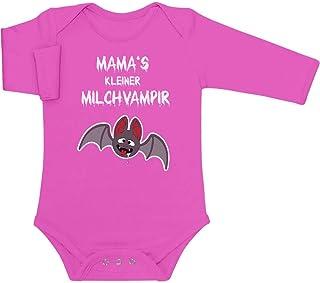 Shirtgeil Halloween Baby Kostüm - Mamas Kleiner Milchvampir Baby Langarm Body