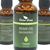 Hemp Oil for Stress Relief & Anxiety Relief 7500MG Premium Hemp Complex Made in USA Anti-Inflammatory & Immune Support 100% Natural & Safe Omega 3, 6 & 9 Better Sleep & Mood