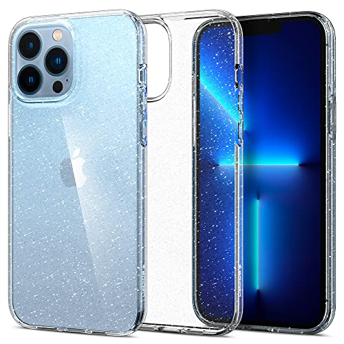 Spigen Liquid Crystal Glitter Designed for iPhone 13 Pro Max Case (2021) - Crystal Quartz