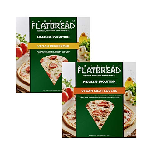 American Flatbread Vegan Meatless Pizza Mix Pack (Pack of 6) | Dairy-Free | GMO-Free | No Artificial Preservatives