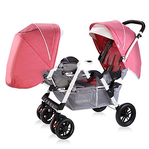 Read About Double Baby Stroller Bassinet Pram Carriage Stroller Adjustable Stroller Direction Four S...