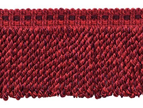 5 Yard Value Pack of Maroon, Black Cherry, Chinese Red 3 inch (7.5cm) Decorative Bullion Fringe Style#: BFV3 Color: VNT12 - Merlot