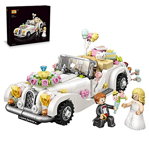 LOZ Small Plastic Educational Building Brick Toys Wedding car with Colorful Interlocking Blocks for Girls and Boys Age 8-12 and Up (676 Pieces)