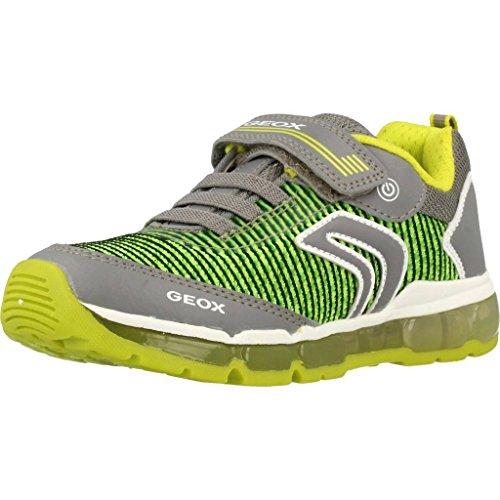 Geox Jungen J Android Low-top A Sneaker, Grau (Grey/Lime), 26 EU