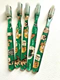 5-PACK FUN Cats Vintage Designer Toothbrush Alan Stuart of New York