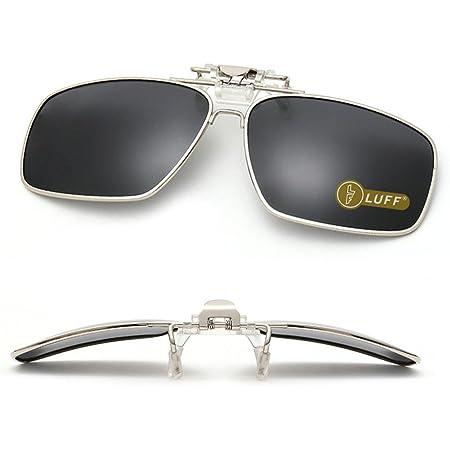 Polarised Clip On Flip Style Sunglasses UV400 Polarized Fishing Eyewear Case UK