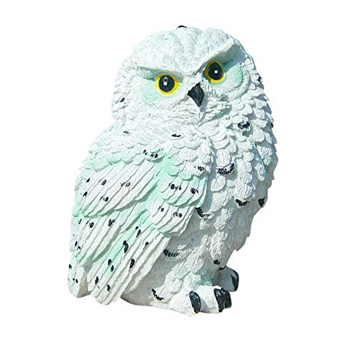 NQBY Ornaments for Bedroom Garden Yard Owl Statue Sculpture Outdoor Indoor Art Crafts Decor Led Path Lawn Yard Garden Lamps Animal Decor