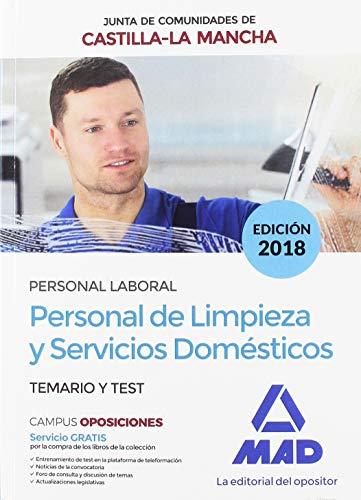 Personal de Limpieza y Servicios Domésticos (Personal Laboral de la Junta de Comunidades de Castilla-La Mancha). Temario y test.