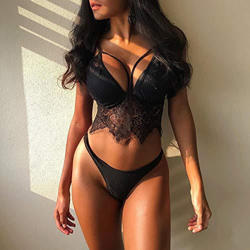 B/H Dessous Erotik Spitze Reizwäsche Reizvolle,Sexy Lingerie Porn Suit for Sex Lace, Underwear Babydoll Nightwear Exotic-Black_Small,Sexy Unterwäsche Erotisch Slip Briefs