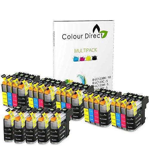 25 XL ( 5 Sets + 5 Schwarz) Colour Direct Kompatibel Tintenpatronen Ersatz für Brother LC123 - DCP-J132W DCP-J152W DCP-J552DW MFC-J650DW DCP-J752DW DCP-J4110DW MFC-J870DW MFC-J4410DW MFC-J4510DW MFC-J4610DW MFC-J4710DW MFC-J470DW MFC-J650DW MFC-J6520DW MFC-J6720DW MFC-J6920DW Drucker