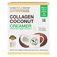 Superfoods, Collagen Coconut Creamer, Unsweetened, 12 Packets 0.85 oz (24 g) Each