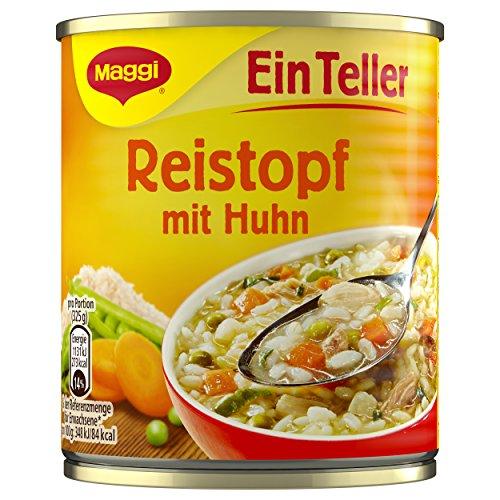 Maggi 1 Teller Reistopf mit Huhn, 10er Pack (10 x 320 ml Dose)