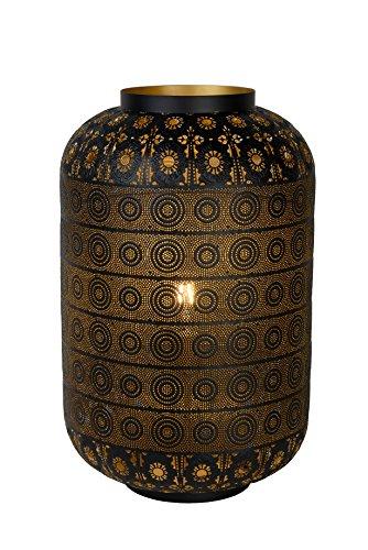 Lucide TAHAR - Lampe De Table - Ø 39 cm - Noir