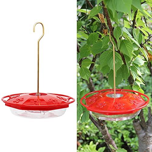 Juegoal 12 oz Hanging Hummingbird Feeder with 8 Feeding Ports