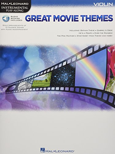 Instrumental Play-Along: Great Movie Themes - Violin (Book/Online Audio) [Lingua inglese]