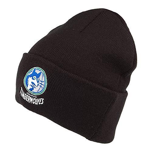 Mitchell & Ness Minnesota Timberwolves Beanie Mütze - NBA Team Logo Cuff Knit - Schwarz - One Size