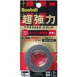 スコッチ 超強力両面テープ プレミアゴールド(スーパー多用途)粗面用 KPR-12 12mm×1.5M