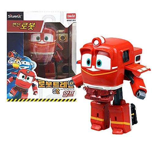 """Robot Trains Season 2 Korean Animation Transforming Robot Character Alf 4"""" Action Figure Toy, Ages 3 and up"""