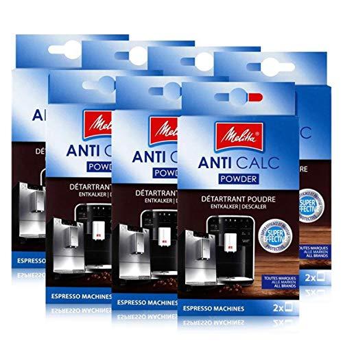 Melitta Anticalc Espresso Machines Entkalker Pulver 2x40g (7er Pack)
