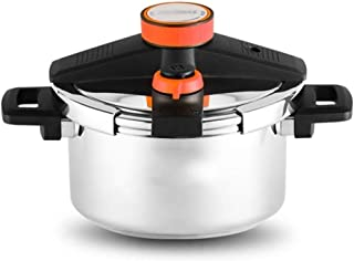 XXDTG Pressure Cooker, Pressure Canner with Pressure Control, Silver (Color : Red)
