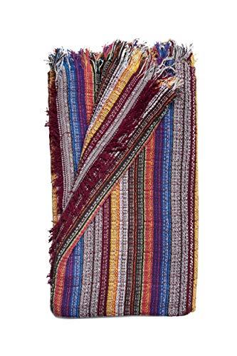 Colcha Multiusos: Plaid Sofa, Manta Foulard, Cubre Cama, Foulard para Sofas de Algodón y Otras Fibras Acabado de Calidad Fabricado en España. (Multicolor, 180x260cm.)