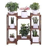 COOGOU Wood Plant Stands Indoor Outdoor Plant Shelf 8 Tiered Flower Pot Stand...