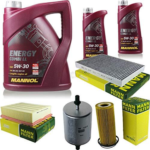 QR-Parts Set 85497427 MN7907-1 CUK 3037 HU 7029 z C 27 192/1 MN7907-5 WK 720/4 paquete de inspección 7 L Energy Combi LL 5W-30 + MANN paquete de filtros 10930125