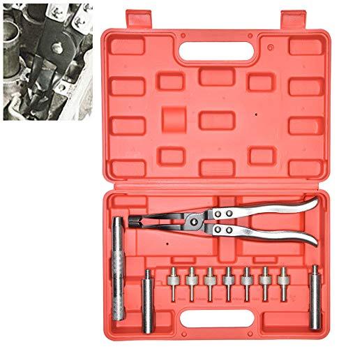 CNWOOAIVE 11 Piezas Kit de Alicate de Sello de Aceite de Vástago de Válvula, Instalador y Extractor de Retenes de Valvulas de Motor.
