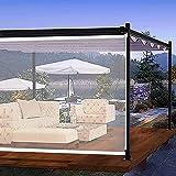 Jcnfa Trasparente Tende a Rullo,per Esterni Tende a Rullo, Grande Plastica in PVC Tenda Trasparente Impermeabile per,Porte Finestre Patio Gazebo del Balcone (Size:150×180cm(59×70in))