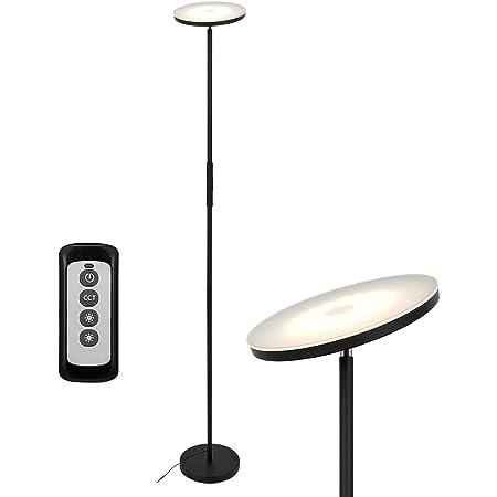 Anten 20W Lampadaire led Lampe sur Pied led avec Luminosité Réglable Lampadaire Salon avec Télécommande Lampe sur Pied Chambre Lumière à Choix 3000K/4000K/5000K