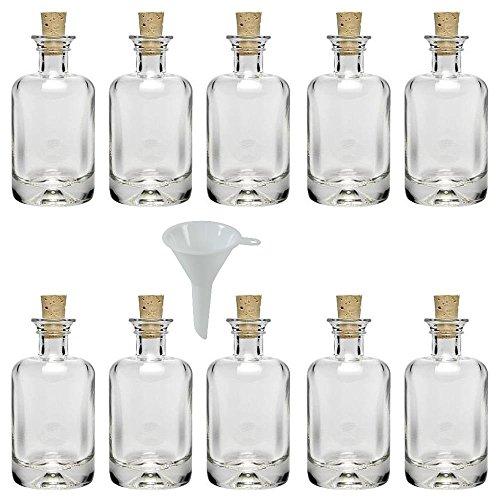 Incluye Etiquetas de rotulaci/ón. con tap/ón de Corcho 6 Botellas de Cristal Verdes de 500 ml