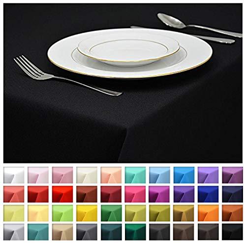 Rollmayer Tischdecke Tischtuch Tischläufer Tischwäsche Gastronomie Kollektion Vivid (Schwarz 34, 80x80cm) Uni einfarbig pflegeleicht waschbar 40 Farben