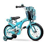 Jieer Bicicleta Montaña Niño, Bicicleta para Niños 2-6 Años Bicicleta Infantil Bicicleta de Montaña Al Aire Libre Ciudad Vehículo Todoterreno Mujer Hombre 12/14 Bicicletass (Azul, 12 Pulgadas)