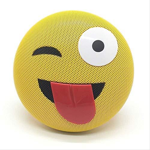Mobiele telefoon bluetooth luidspreker emoji expressie mobiele telefoon cadeau draadloze bluetooth luidspreker, Tongue