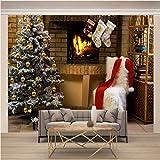 JKM Wallpaper 3D No Tejido Mural De Pared Autoadhesivo Mural Tamaño Múltiple Navidad Regalos Árbol De Navidad Mural Fotomural Papel Pintado Fondo De Pantalla Personalizado Hd Exquisito Tv Fondo Pared