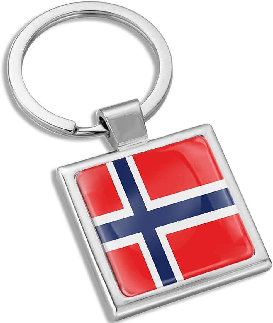 Biomar Labs 3D Metal Keyring Key Chain Gift Men Women Keychain Giftbox Norway Norwegian National Flag KK 289
