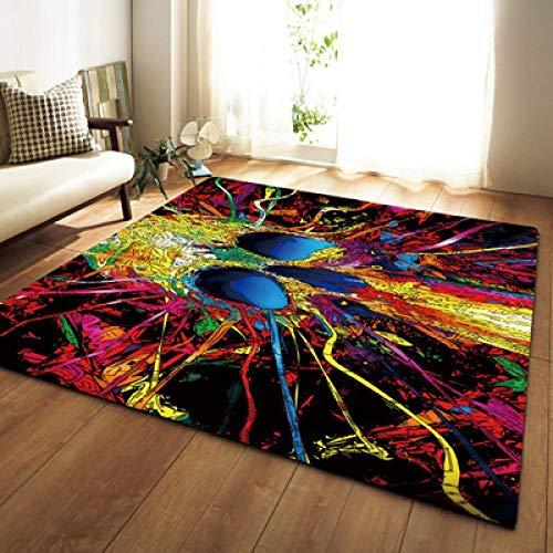 Alfombra ZWRY Alfombra peluda para habitación, alfombras de noche, bonita alfombra de felpa mullida suave de Color arcoíris para dormitorio, decoración nórdica para el hogar