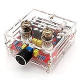 DollaTek XH-A201 HiFi 6J1 Clase A Amplificador de preamplificador de Tubo biliar Tablero Acabado de Audio con chasis acrílico
