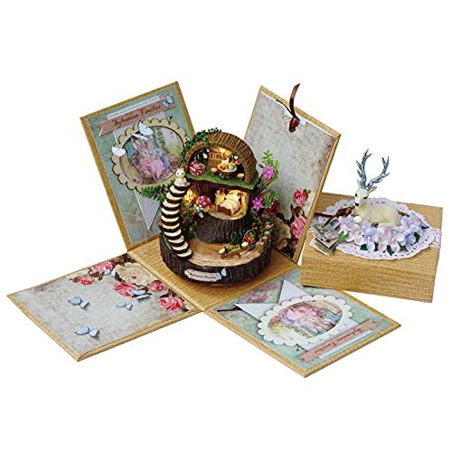 icyant Caja de Música, Creativo Caja de música Fantasy Forest DIY Kit de Caja de Música Caja Musical de Manivela para Mamá Esposa Novia Cumpleaños de Navidad
