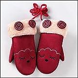 Xme Kinderhandschuhe für 3-8 Jahre, warme Cartoon-Handschuhe für Wintertaschen, Outdoor-Reithandschuhe für Kinder