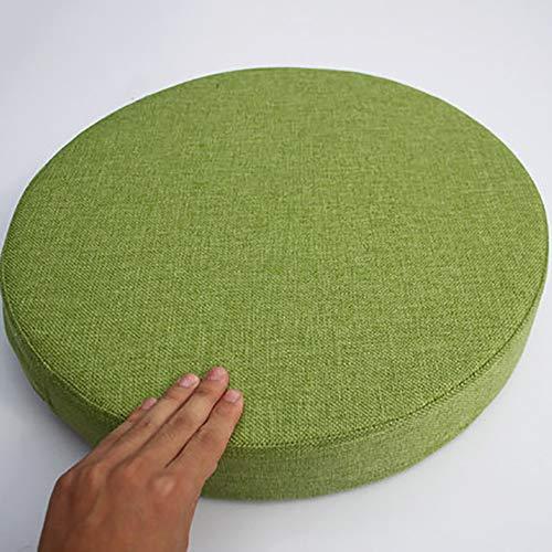 MSM Sitz Booster Kissen, Bay-Fenster Balkontür Tatami Runde Sitz Dämpfung Japaner Große Futon Stuhl-pad, Set 2-grün Durchmesser: 40cm