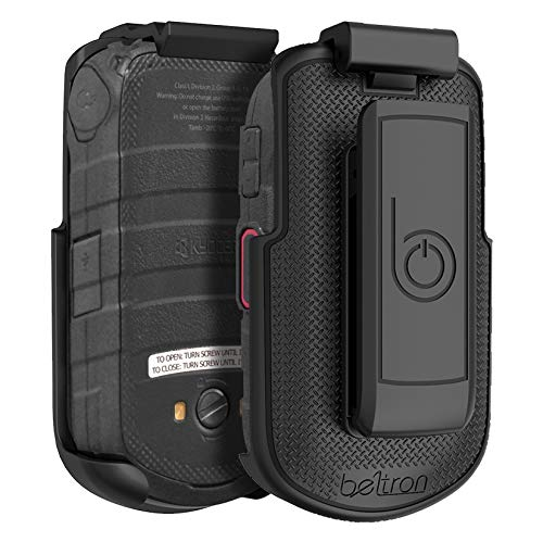 BELTRON DuraXV LTE Belt Clip Holster, Heavy Duty Rotating Belt Clip Holder Case for Kyocera DuraXV LTE E4610 (Verizon), DuraXE E4710 (AT&T), Secure Fit with Quick Release Latch & Kickstand